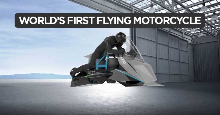 """The First """"Flying Motorcycle"""""""